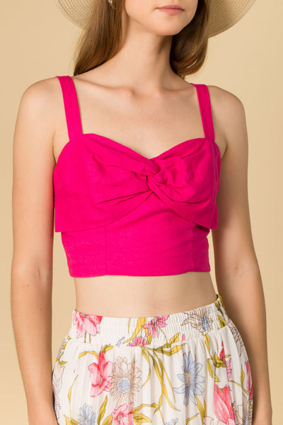 TWIST FROM CROP CAMI TOP