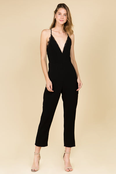 SKINNY BLACK JUMPSUIT