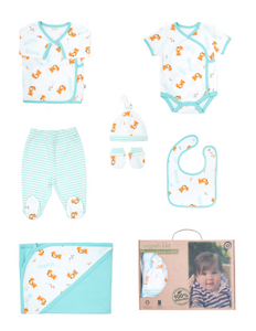 Organickid Organic Cotton 7 Piece Newborn Gift Set - Fox