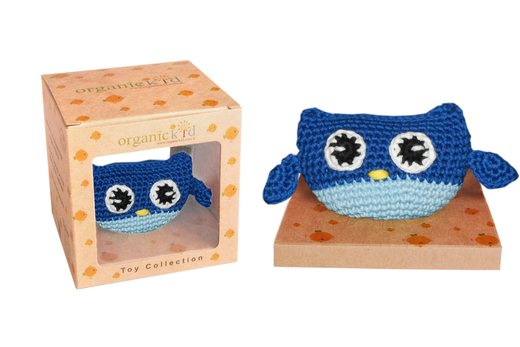 Organic Cotton Toy - Blue Owl
