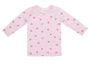Bamboo Long Sleeve Top - Pink Floral