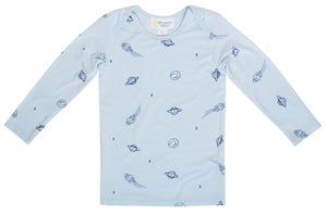 Bamboo Long Sleeve Top - Blue Space