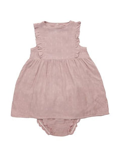 Bamboo Muslin Dresses -  Silver Pink