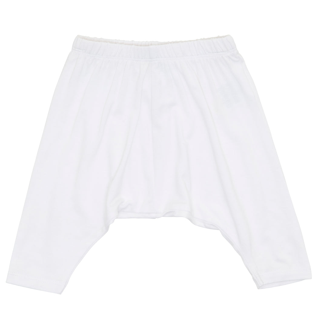 Bamboo Harem Pants - White