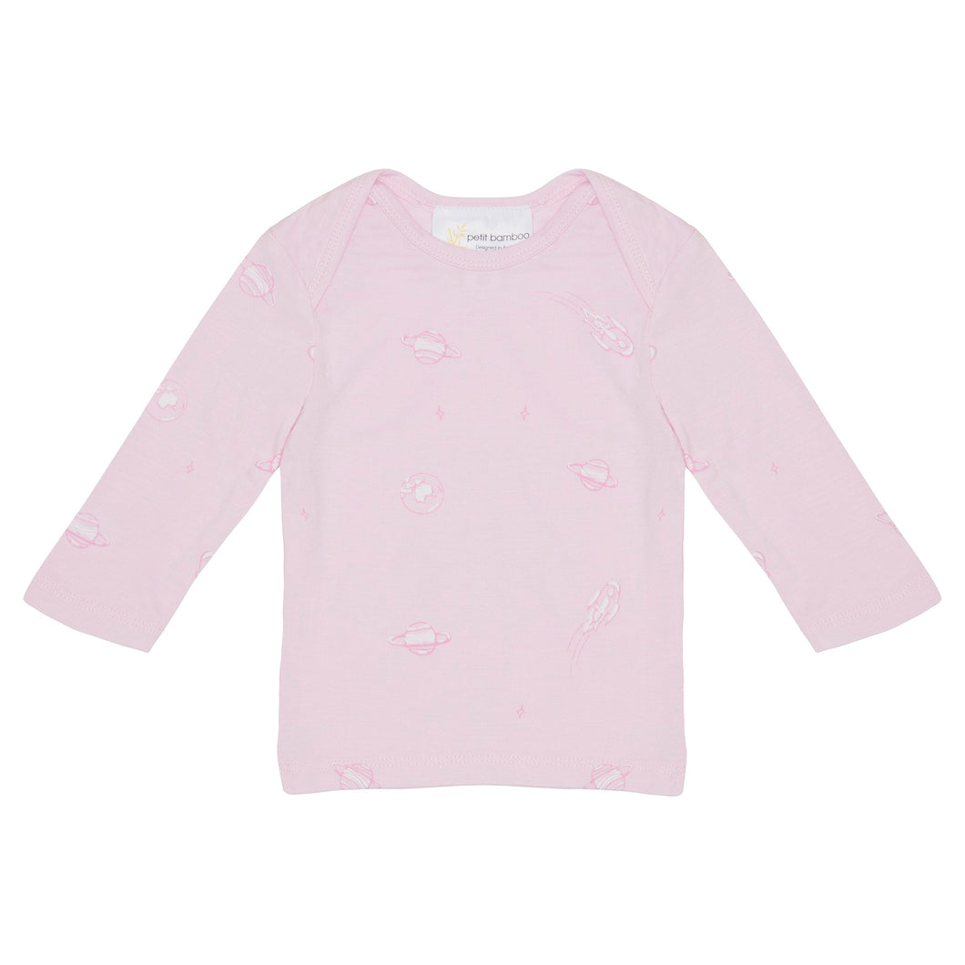 Bamboo Long Sleeve Top - Pink Space
