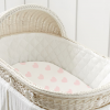 Load image into Gallery viewer, Fitted Bamboo Bassinet Sheet - Pink Hearts
