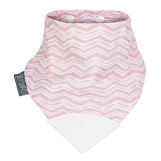 Cheeky Chompers Muslin Neckerchew - Rosy