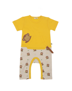 Organic Cotton Jumpsuit - Monkey