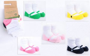 Organic Cotton Baby Ballerina Socks 5 Pack