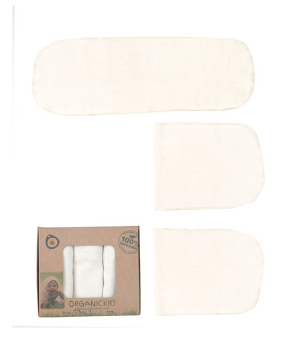 Organickid Organic Cotton Wash Cloth Set of 3