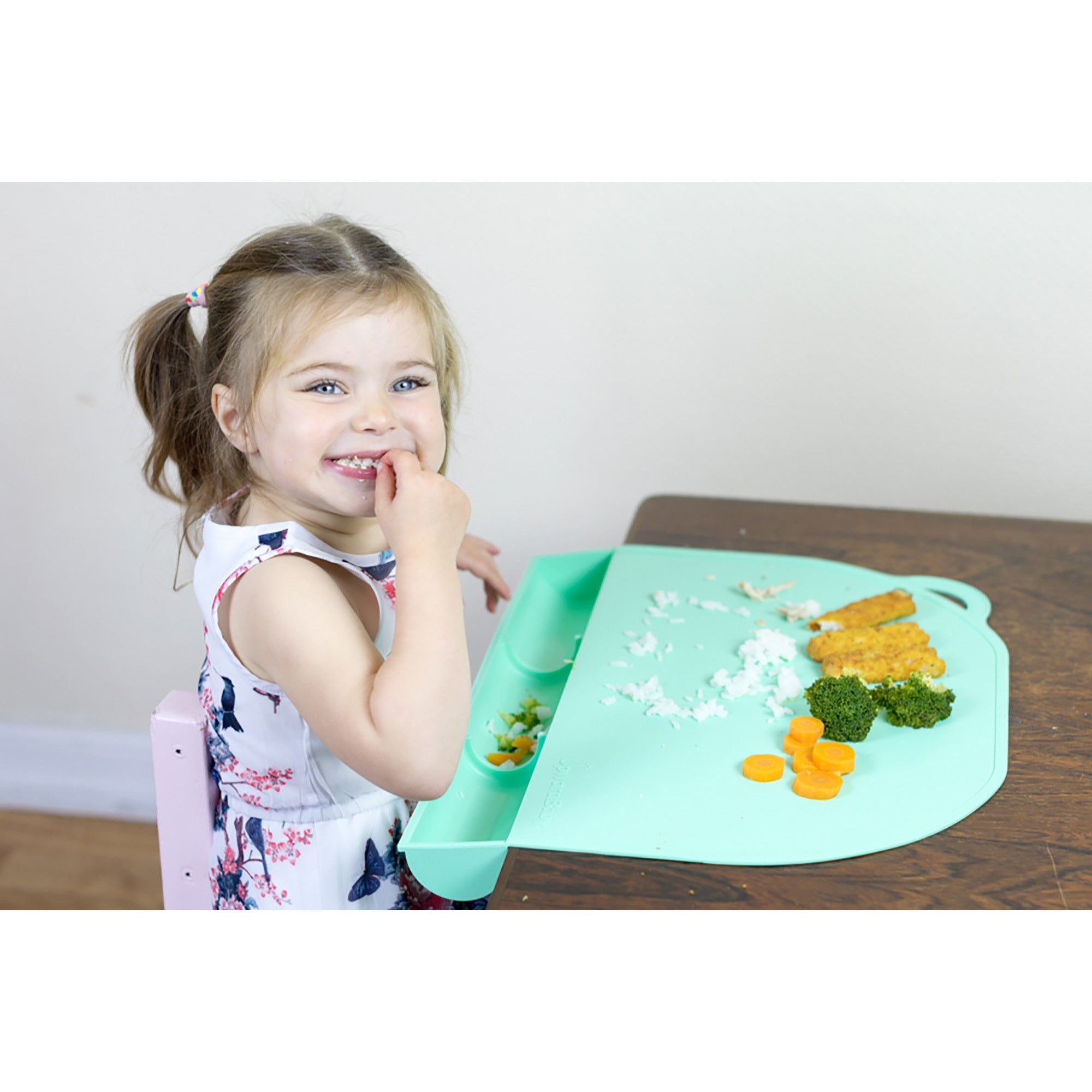 UpwardBaby Silicone Food Catching Suction Placemat - Mint