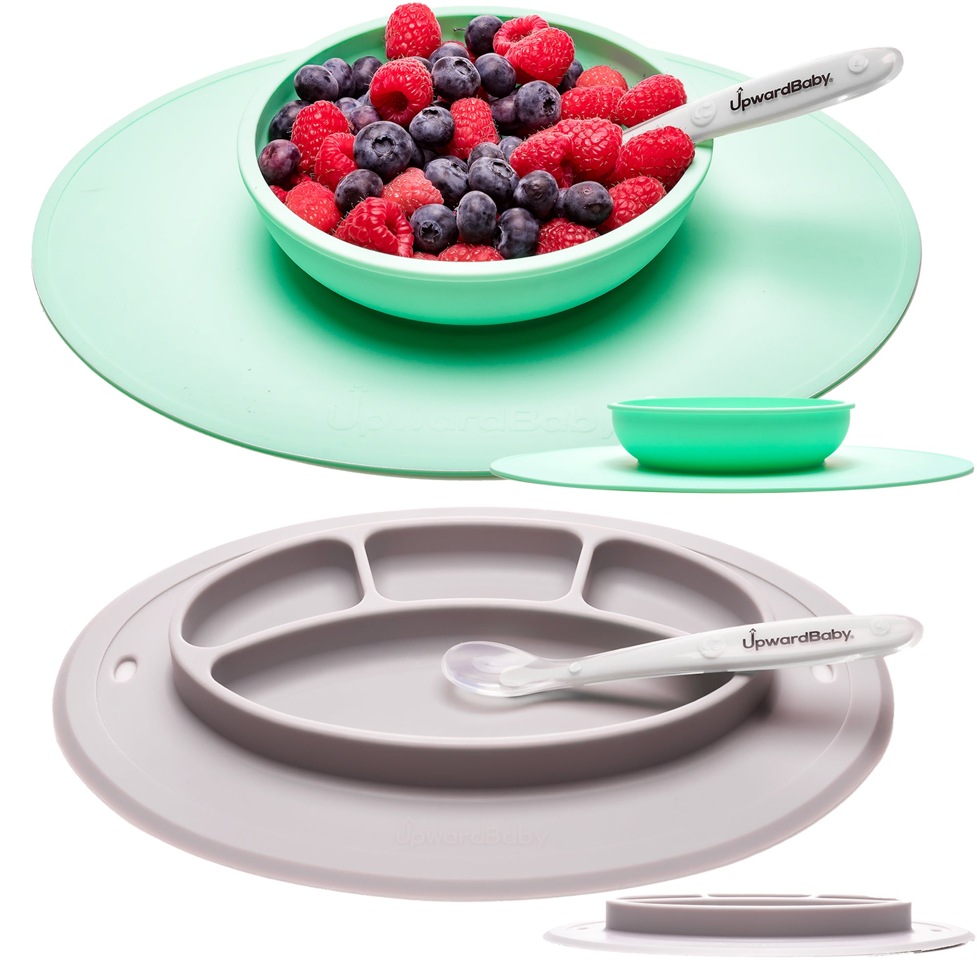 UpwardBaby Toddler and Baby Suction Bowl and Plate Set