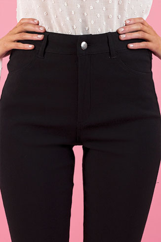 Babydoll Stretch Jeans in Black
