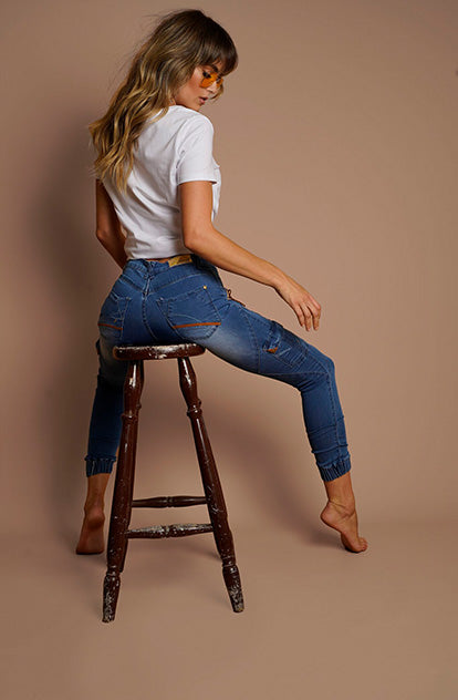 Gigi Denim Jogger - Long