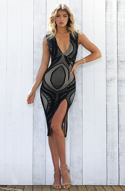 Pacha Dress Lace Black