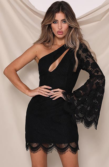 Rosie Dress Black Lace RN18-5029