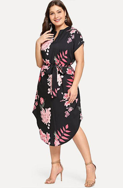 Ella Self Tie Dress Front