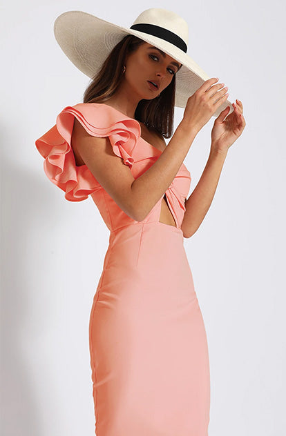 Viva Midi Dress - Cantaloupe