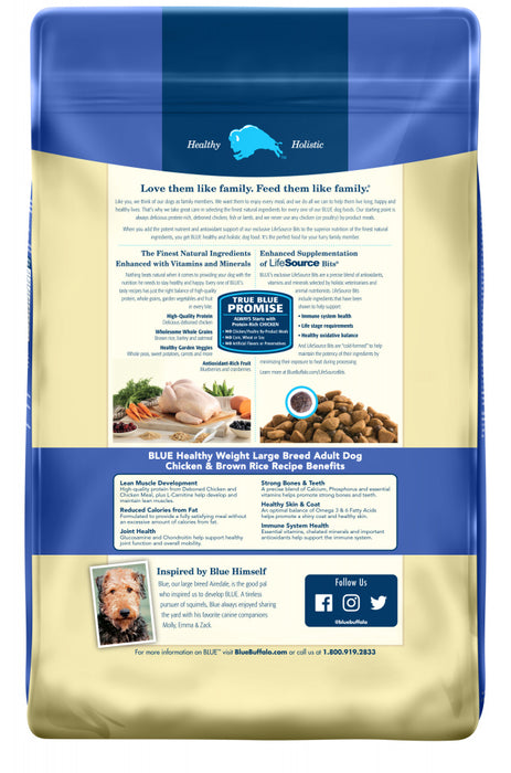 Blue Buffalo Life Protection Large Breed Natural Healthy Weight Chicken & Brown Rice Recipe Adult Dry Dog Food