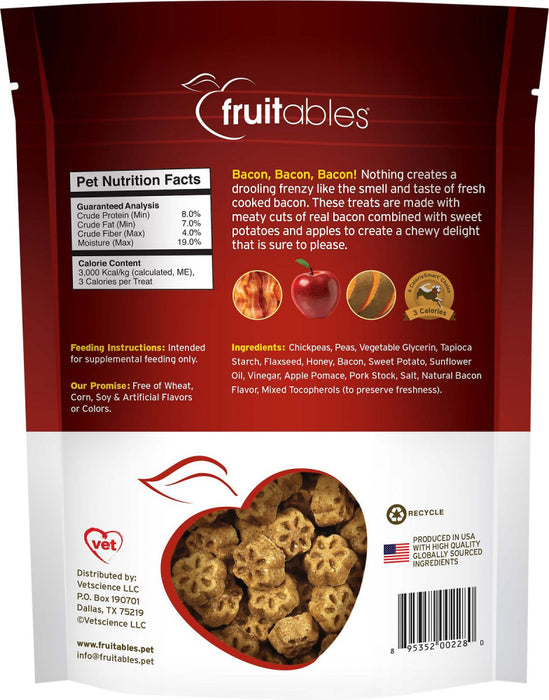 Fruitables Chewy Skinny Minis Apple Bacon Dog Treats