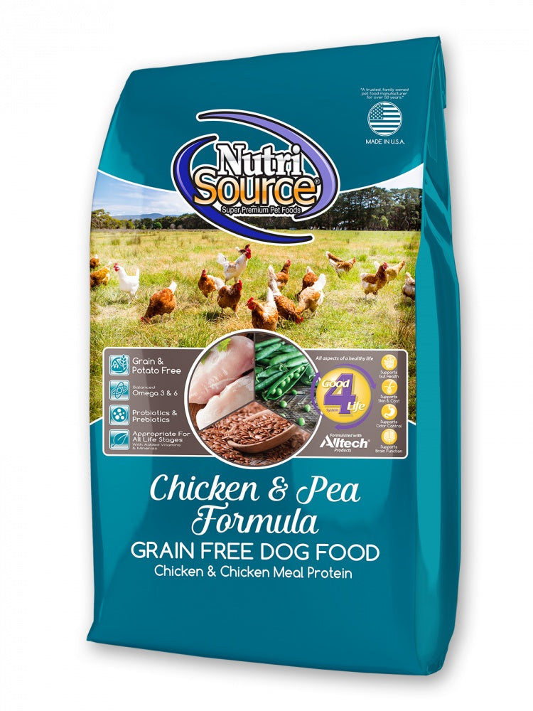 NutriSource Grain Free Chicken & Pea Dry Dog Food