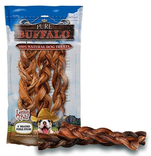 Pure Buffalo Braided Bully Sticks Dog Treats