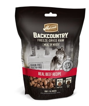 Merrick Backcountry Freeze Dried Grain Free Beef Recipe Meal Mixer for Dogs