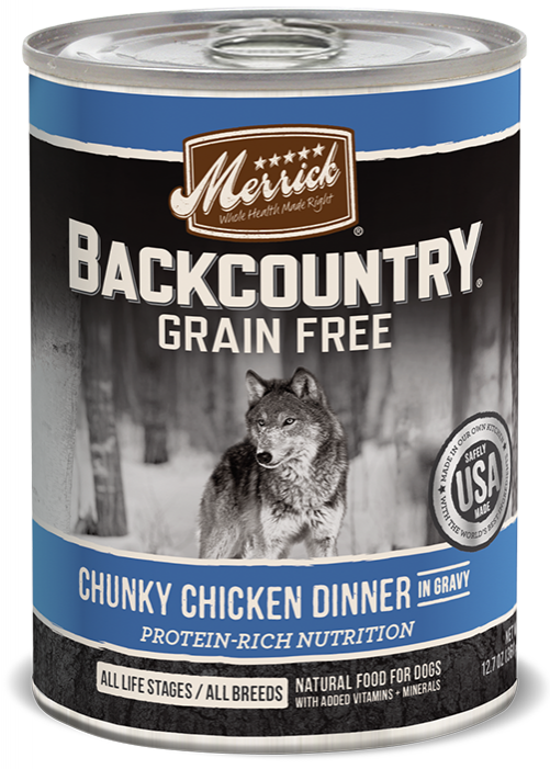 Merrick Backcountry Grain Free Chunky Chicken Canned Dog Food