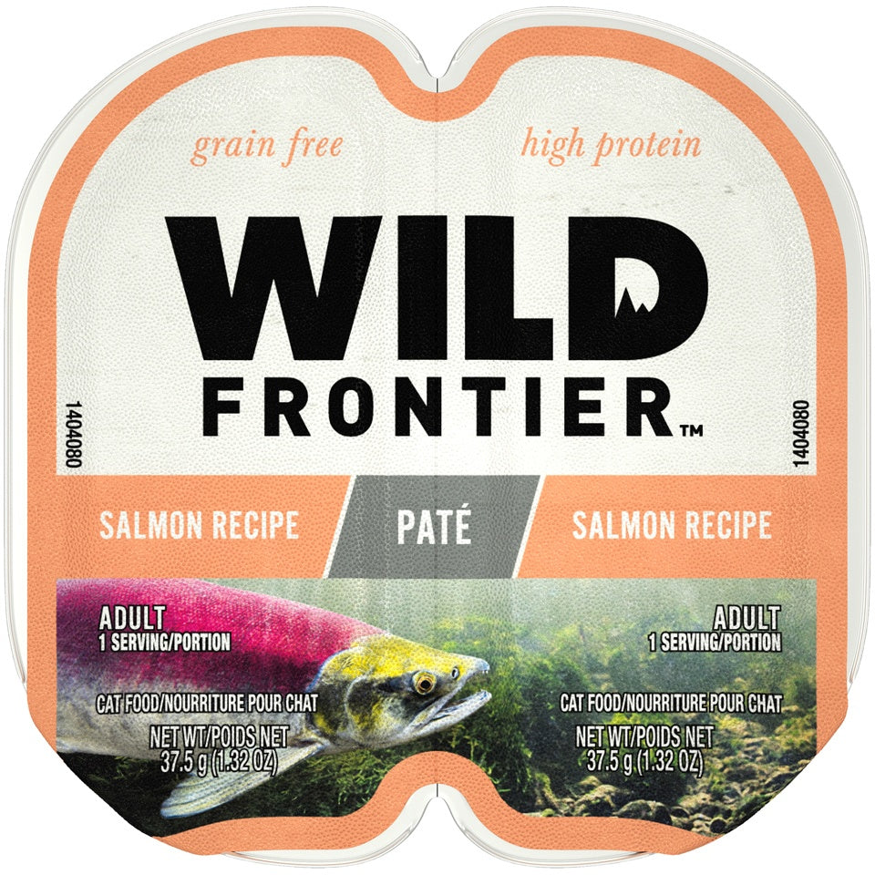 Wild Frontier Perfect Portions Grain Free Real Salmon Pate Wet Cat Food Trays
