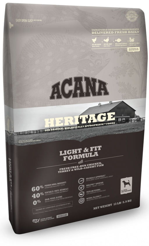 ACANA Heritage Light & Fit Formula Grain Free Dry Dog Food
