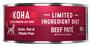 KOHA Grain & Potato Free Limited Ingredient Diet Beef Pate Canned Cat Food