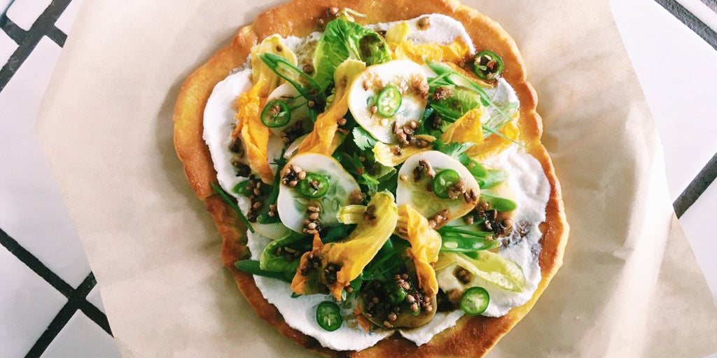 Crispy Turmeric Flatbread with Sandy Ho