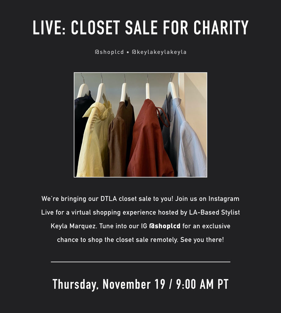 IG Live Shopping: Closet Sale for Charity