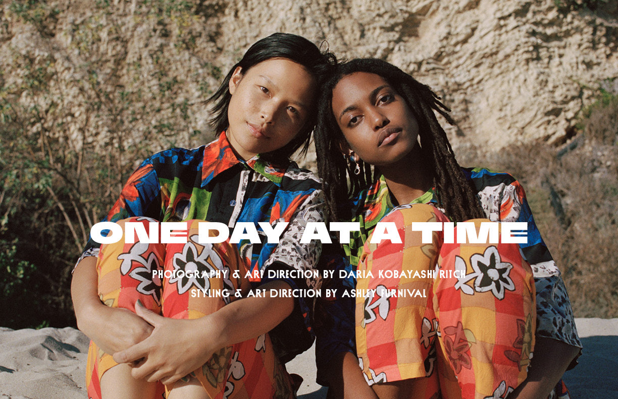 One Day At A Time - a photo editorial creative directed by Daria Kobayashi Ritch and Ashley Furnival.
