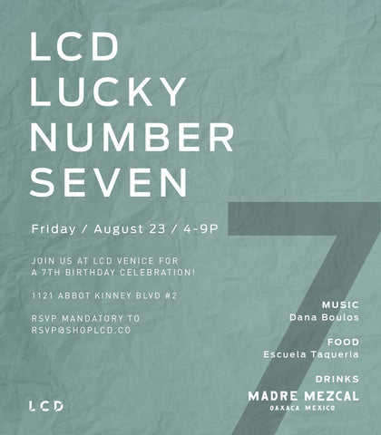 LCD Lucky Number Seven, Party Invite.