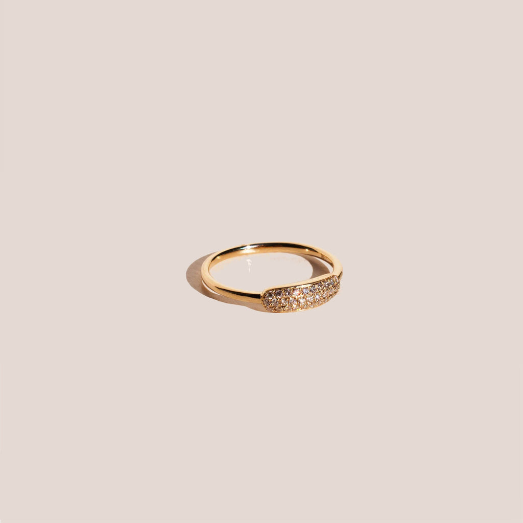 Gabriela Artigas - Pavé Tube Ring, available at LCD.