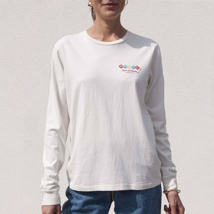 Re/DONE - 90s Long Sleeve Motel Tee, front view, available at LCD.