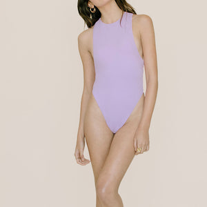 Anna Maria Blanco - Elena Swimsuit in Lavender Love, front view, available at LCD.