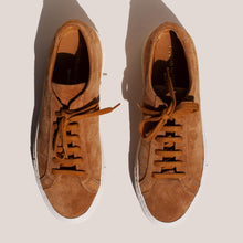 Load image into Gallery viewer, Common Projects - Original Achilles Low - Tan Suede, aerial view, available at LCD.