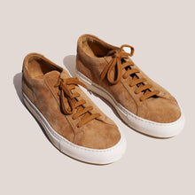 Load image into Gallery viewer, Common Projects - Original Achilles Low - Tan Suede, angled view, available at LCD.