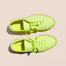 Load image into Gallery viewer, Original Achilles Low Fluo in Neon Yellow, top view, available at LCD.