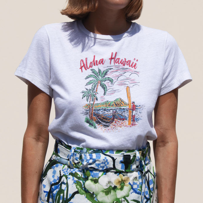 Re/DONE - Classic Tee - Aloha, front view, available at LCD.