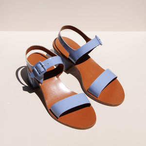 LoQ - Altea Sandal - Mar, angled view, available at LCD.