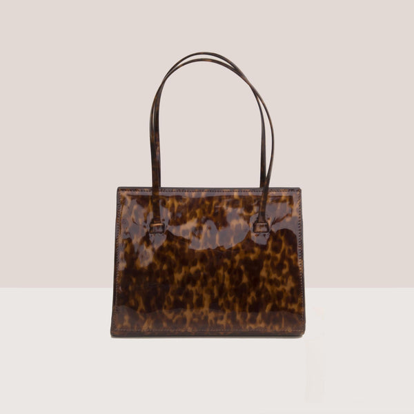 Maryam Nassir Zadeh - Anika Purse - True Tortoise, front view, available at LCD.