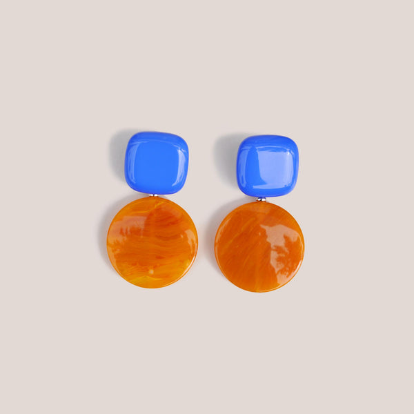 Rachel Comey - Arc Earrings - Blue Honey, available at LCD.