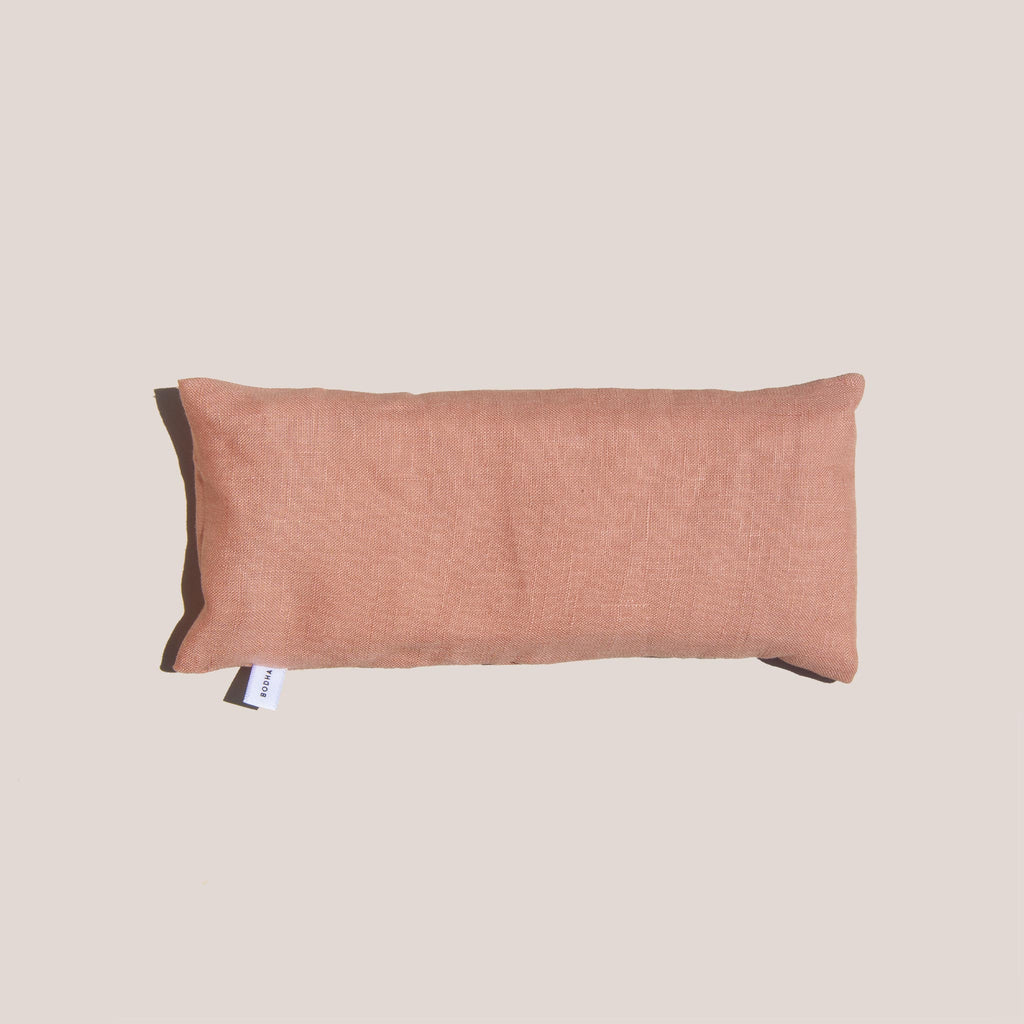 Bodha - Aromatherapy Linen Eye Pillow - Blush, aerial view, available at LCD.