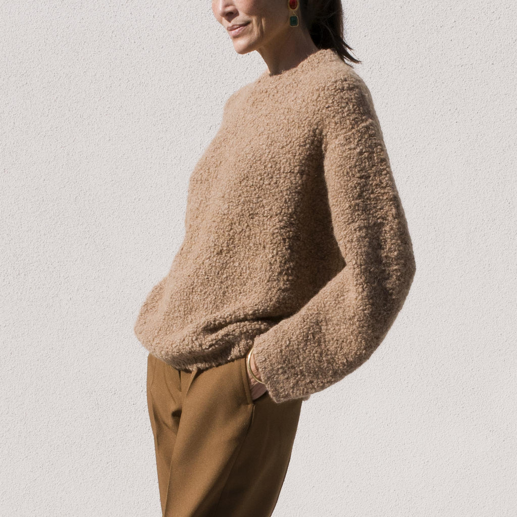 Lauren Manoogian - Astrakhan Pullover, angled view.