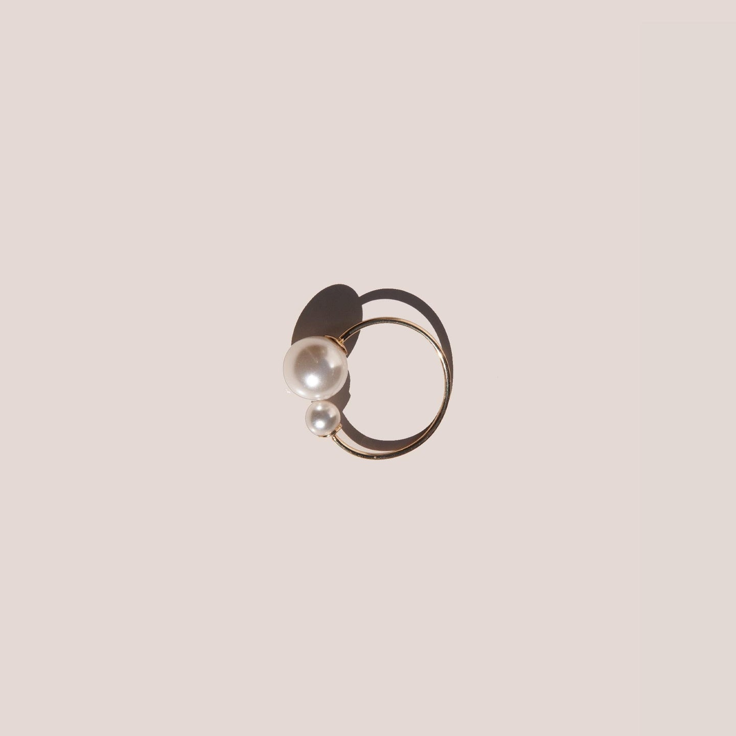 Gabriela Artigas - Asymmetric Suspended Pearl Ring, available at LCD.
