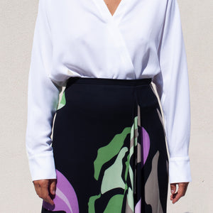 Tibi - Asymmetrical Skirt, front detail view, available at LCD.