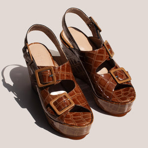 Maryam Nassir Zadeh - Aurelie Wedge, angled view, available at LCD.